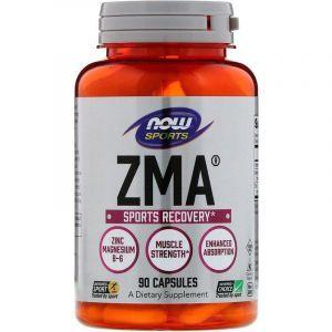 Спортивное восстановление, ЗМА, ZMA, Now Foods, Sports, 90 капсул
