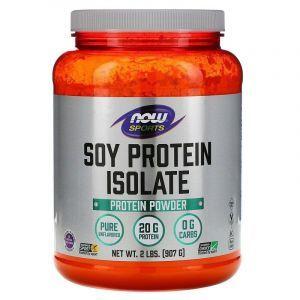 Изолят соевого протеина, Now Foods, Порошок, 907 г