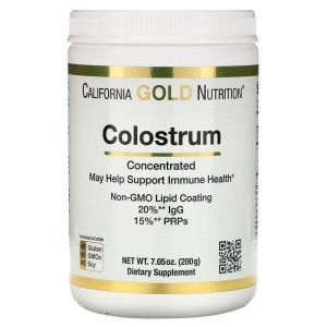 Молозиво порошок, Colostrum, California Gold Nutrition, концентрированный порошок, 200 гр.