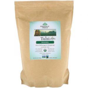 Чай тулси листовой, без кофеина, Tulsi, Organic India, оригинальный, 456 г