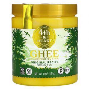 Масло гхи, оригинальное, Ghee Butter, 4th & Heart, 454 г