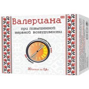 Валериана, Фармаком, 0,4 г, 30 капсул