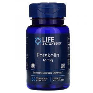Форсколин, Forskolin, Life Extension, 10 мг, 60 капсул