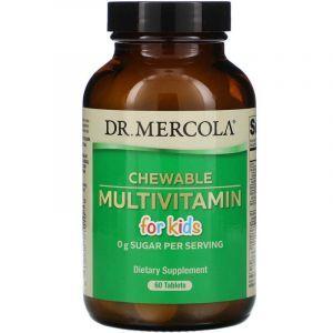 Мультивитамины для детей, Multivitamin for Kids, Dr. Mercola, 60 таблеток (Default)