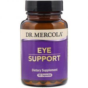Витамины для глаз с лютеином, Eye Support, Dr. Mercola, 30 капсул