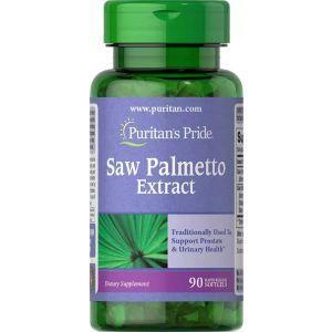 Со Пальметто, Saw Palmetto Extract Puritan's Pride, 90 гелевых капсул