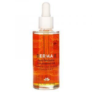 Масло против морщин с витаминами А и Е, Anti-Wrinkle Oil, Derma E, 60 мл