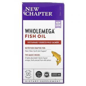 Жир аляскинского лосося, Alaskan Salmon Oil, New Chapter, 1000 мг, 120 капсул