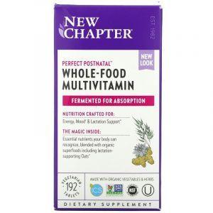 Мультивитаминный комплекс постнатальный, Postnatal MultiVitamin, New Chapter, 192 таблетки