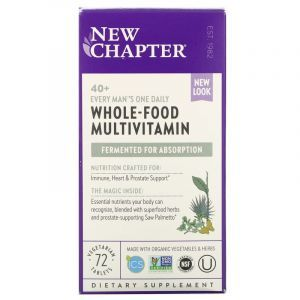 Мультивитаминный комплекс для мужчин 40 +, One Daily Multi, New Chapter, 72 таблетки