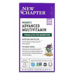 Мультивитамины для женщин, Every Woman Multivitamin, New Chapter, 72 таблетки