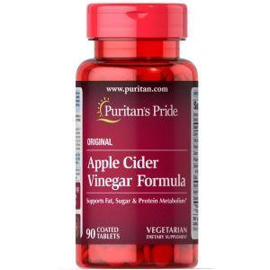 Яблочный уксус, Apple Cider Vinegar, Puritan's Pride, формула, 90 таблеток