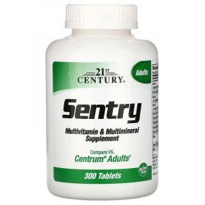 Мультивитамины и минералы Sentry, (Multivitamin Multimineral), 21st Century, 300 таблеток (Default)