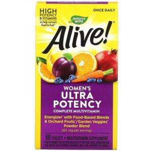 Мультивитамины для женщин, Alive!, Women's Multi-Vitamin, Nature's Way, 60 таблеток