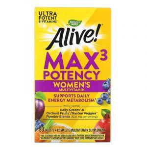 Витамины для женщин, Alive, Women's Max Potency, Nature's Way, 90 таблеток