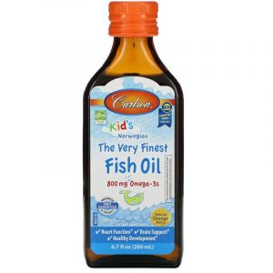 Рыбий жир для детей, Fish Oil, Carlson Labs, апельсин, 200 мл