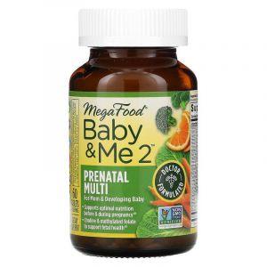 Витамины для беременных 2, Baby & Me 2, MegaFood, 60 таблеток