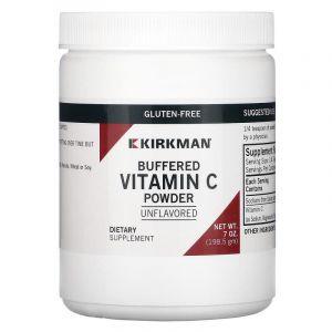Витамин С (буферизованный), Buffered Vitamin C, Kirkman Labs, 198,5 г