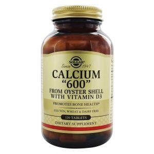 """Кальций из раковин устриц, Calcium """"600"""", Solgar, с витамином D3, 120 таблеток"""