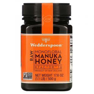 Манука мед, Manuka Honey, Wedderspoon Organic, Inc., 500 г