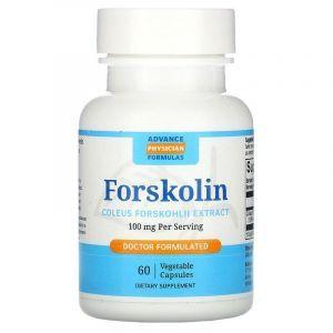 Форсколин, Forskolin, Advance Physician Formulas, 100 мг, 60 вегетарианских капсул