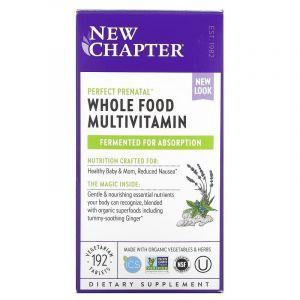 Витамины для беременных, Prenatal Multivitamin, New Chapter, 192 таблетки