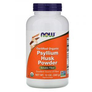 Подорожник органический (Psyllium Husk), Now Foods, 340