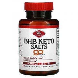 Кетоновые соли, бета-гидроксибутират, BHB Keto Salts, Olympian Labs, 60 капсул
