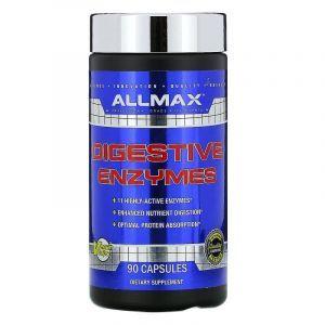 Пищеварительные ферменты с оптимизатором белка, Digestive Enzymes, ALLMAX Nutrition, 90 капсул