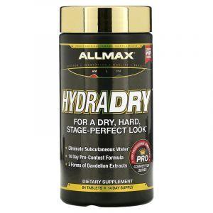 Мочегонное + стабилизатор электролитов, HydraDry, ALLMAX Nutrition, для спортсменов, 84 таблеток