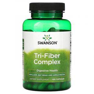Комплекс пищевых волокон, Tri-Fiber Complex, Swanson, 100 капсул