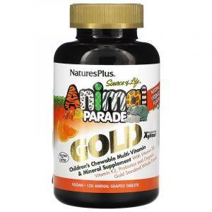 Витамины для детей, Nature's Plus, вкус апельсина, 120шт