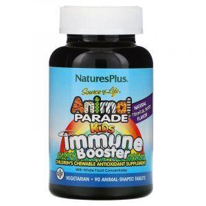 Укрепление иммунитета детям, Kids Immune, Nature's Plus, Source of Life Animal Parade, тропические ягоды, 90 животных