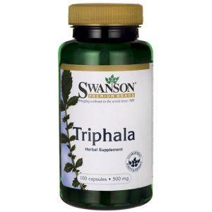Трифала, Triphala, Swanson, 500 мг, 100 капсул