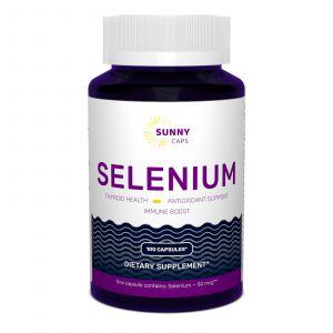 Селен, Selenium Powerfull, Sunny Caps, 50 мкг, 100 капсул