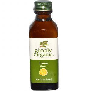 Экстракт лимона (Lemon Flavor), Simply Organic, 59 мл