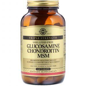 Глюкозамин хондроитин МСМ, Glucosamine Chondroitin MSM, Solgar, 120 таблеток