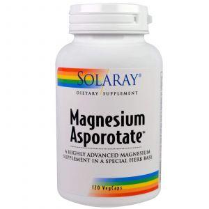 Магний аспартат, Magnesium Asporotate, Solaray, 120 капс.