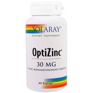 Опти Цинк, OptiZinc, Solaray, 30 мг, 60 капсул