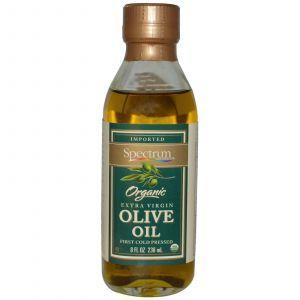 Оливковое масло первого отжима, Extra Virgin Olive Oil, Spectrum Naturals, 236 мл