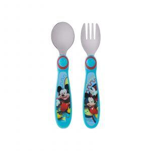 Ложка и вилка Микки Маус, Fork and Spoon, The First Years, от 9 месяцев, 2 шт
