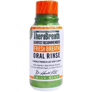 Ополаскиватель для рта (мята), Fresh Breath Oral Rinse, TheraBreath, 88,7 мл