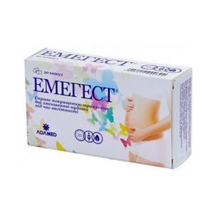 Эмегест, Emegest, Adamed, для беременных, от тошноты, 20 капсул