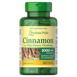 Корица с хромом, Cinnamon, Puritan's Pride, 60 капсул