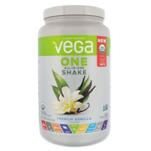 Растительная смесь, All-in-One Shake, French Vanilla, Vega, 689 г