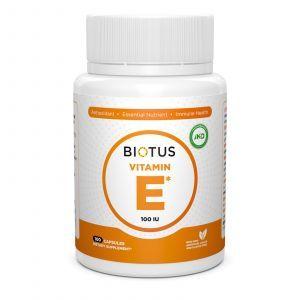 Витамин Е, Vitamin Е, Biotus, 100 МЕ, 100 капсул