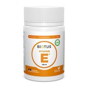 Витамин Е, Vitamin Е, Biotus, 100 МЕ, 30 капсул