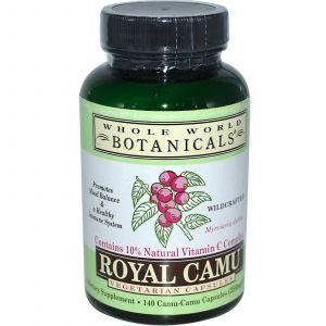 Каму-каму (витамин-С), Whole World Botanicals, 140