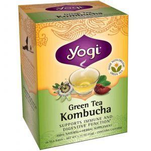 Комбуча (чайный гриб), Yogi Tea, 16 пакетов, 32 г