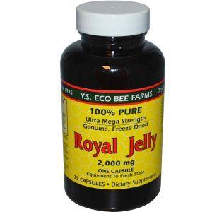 Маточное молочко, Y.S. Eco Bee Farms, 200 мг, 70 капсул